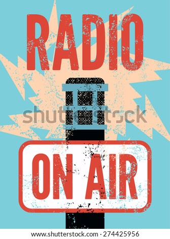 typographic retro grunge radio
