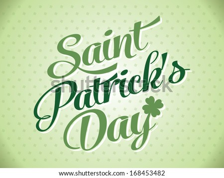 Typographic Saint Patrick Day Card