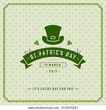 typographic saint patrick's day