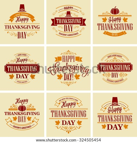 typographic thanksgiving design