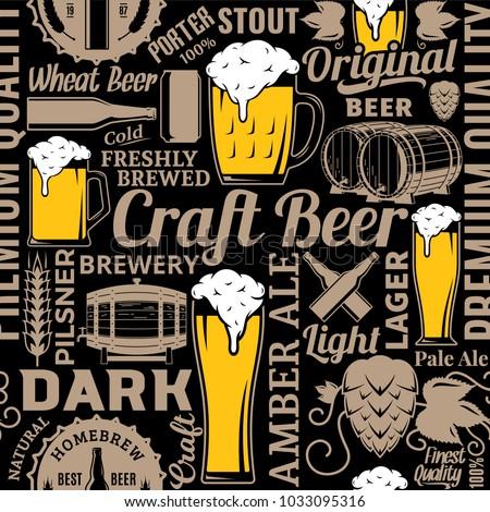 typographic vector beer