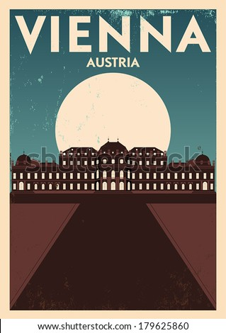 typographic vienna city poster...