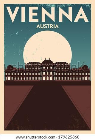 typographic vienna city poster...