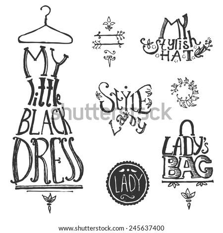 typographic vintage composition