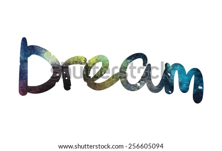 typographical of dream with