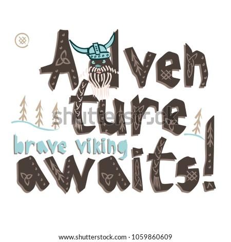 typography children viking