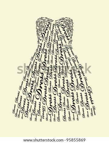 typography dress design