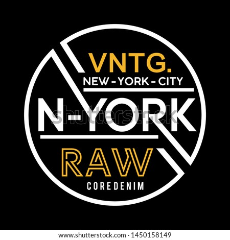 typography new york for print t shirt