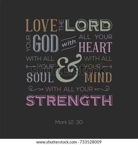 typography of bible quote for