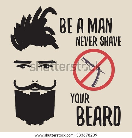 typography poster with bearded