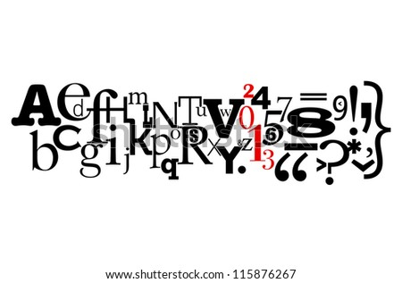 """Typography """"New Year 2013"""" concept - stock vector"""