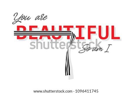 typography slogan for fashion t shirt