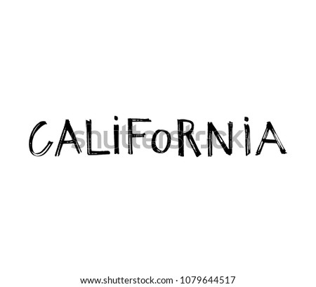 typography slogan hand drawn