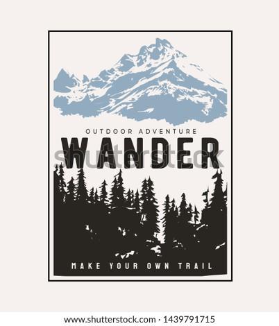 typography slogan on alpine