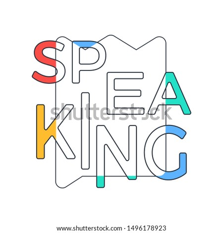 typography slogan Speak King with line crown background illustration for T-shirt and apparels graphic vector Print.
