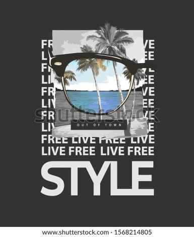 typography slogan with beach