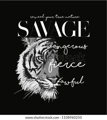typography slogan with black