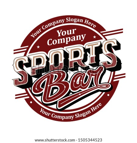 Typography - Sports Bar Logo vector