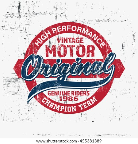 typography vintage motor brand...