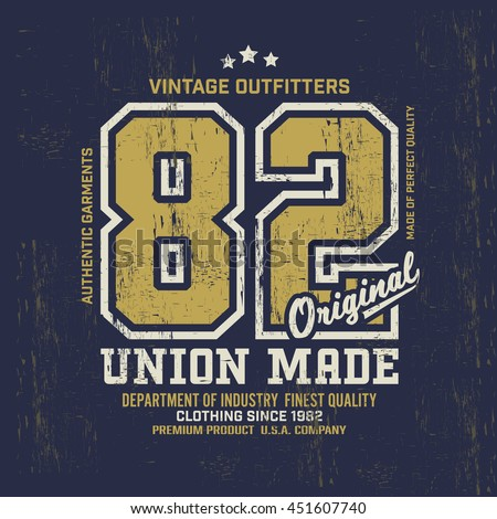 typography vintage outfit brand ...