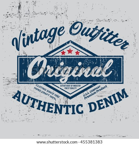 typography vintage outfit brand