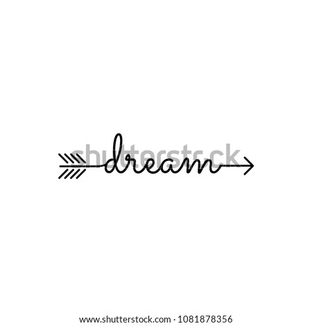 typography: word dream starts an ends with arrow