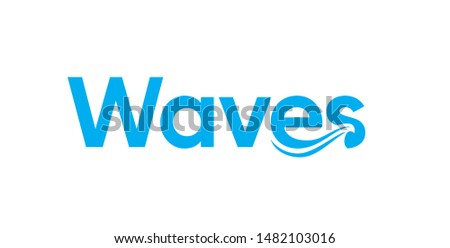 typography word waves with