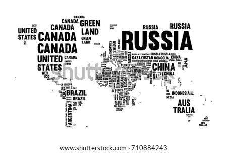 Globe continente vectores descargue grficos y vectores gratis typography world map made of every country name in black and white concept text atlas gumiabroncs Image collections