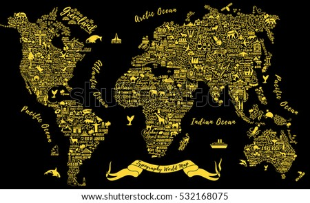 typography world map travel