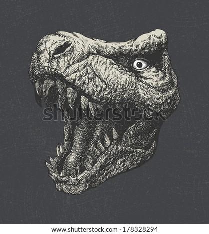 tyrannosaurus dinosaur  hand