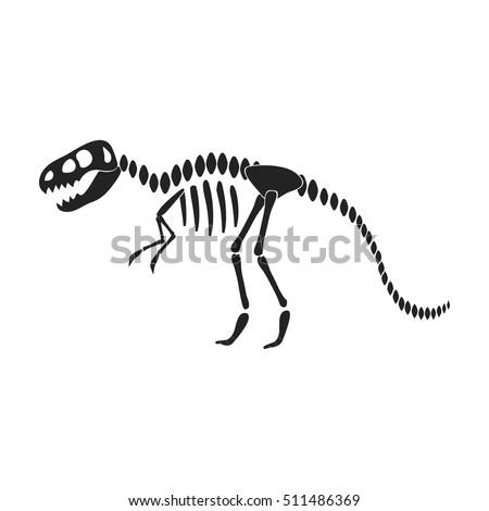 Tyrannosaurus Rex Icon In Black Style Isolated On White Background