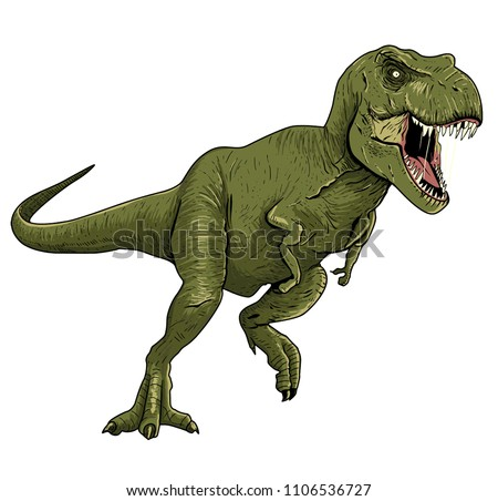 Tyrannosaurus Rex Illustration fo Boy's Wear, Kid's Fashion and More