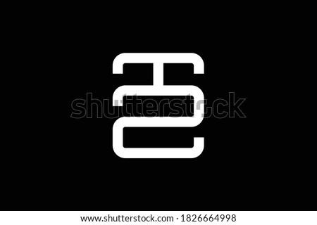 TZ letter logo design on luxury background. ZT monogram initials letter logo concept. TZ icon design. ZT elegant and Professional white color letter icon design on black background. T Z ZT TZ Stock fotó ©