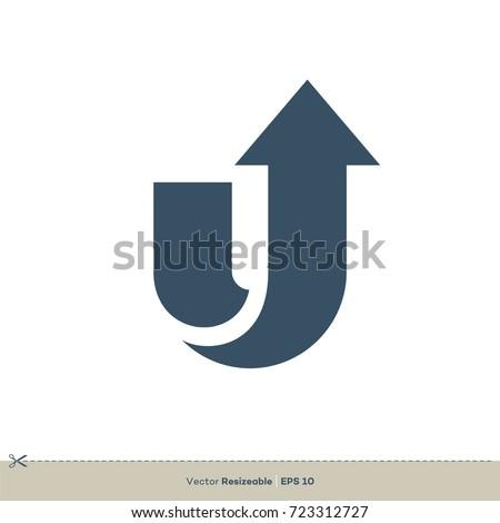 u letter logo template