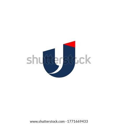 u logo. arrow logo. modern Stok fotoğraf ©