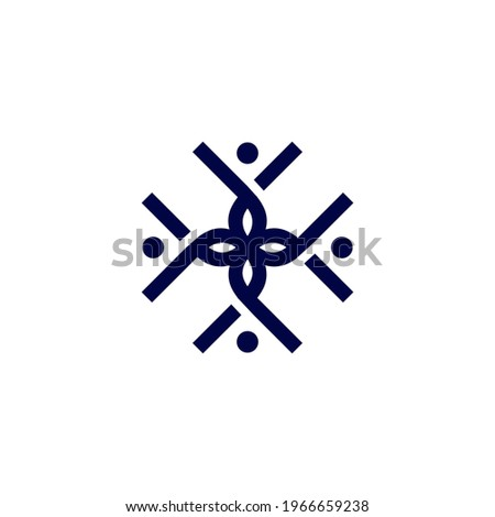 U Logo for your community simple design Stok fotoğraf ©