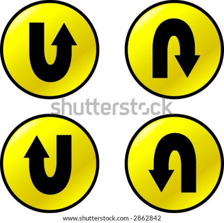 u turn arrow buttons