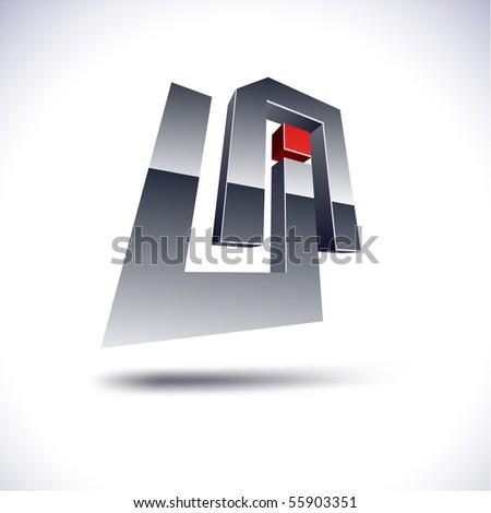 UA 3d vector icon such logos. - stock vector