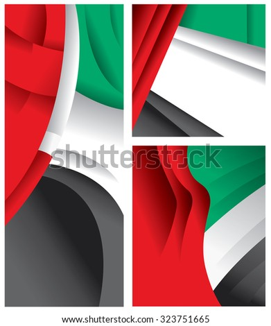 uae abstract flag  united arab