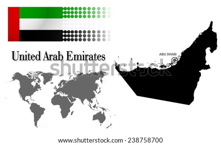 UAE Map and Flag - Download Free Vector Art, Stock Graphics & Images