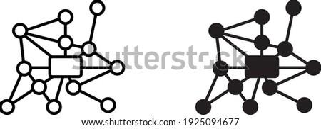 Ubiquitous computing icon , vector Stockfoto ©