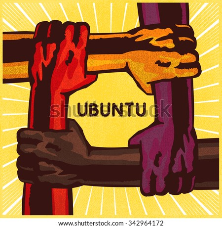 ubuntu  arms holding each other