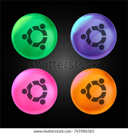ubuntu logo crystal ball design