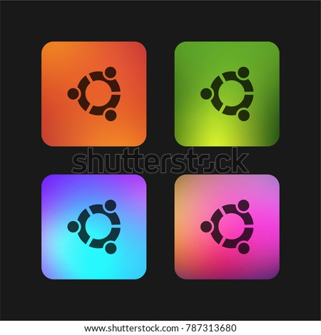 ubuntu logo four color gradient