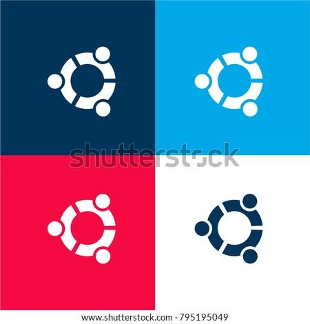 ubuntu logo four color material