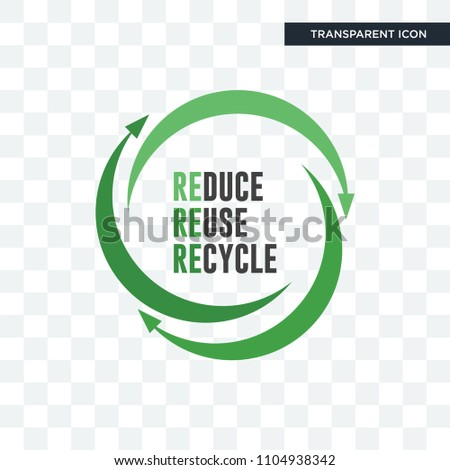 uce reuse recycle vector icon isolated on transparent background, uce reuse recycle logo concept
