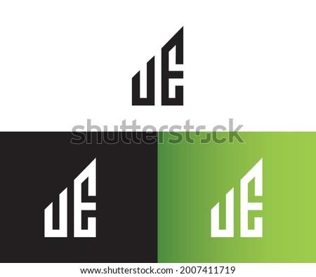 UE logo design template vector illustration Foto stock ©