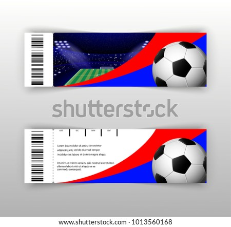 UEFA EURO 2021 vector football ticket layout template set with barcode. Front, back flyer side isolated on gray. Euro 2020 football editable promotion material for web, print. Soccer world sport event