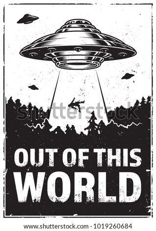 ufo abducts human space ship