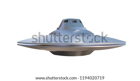 UFO - alien spaceship. Vector illustration.